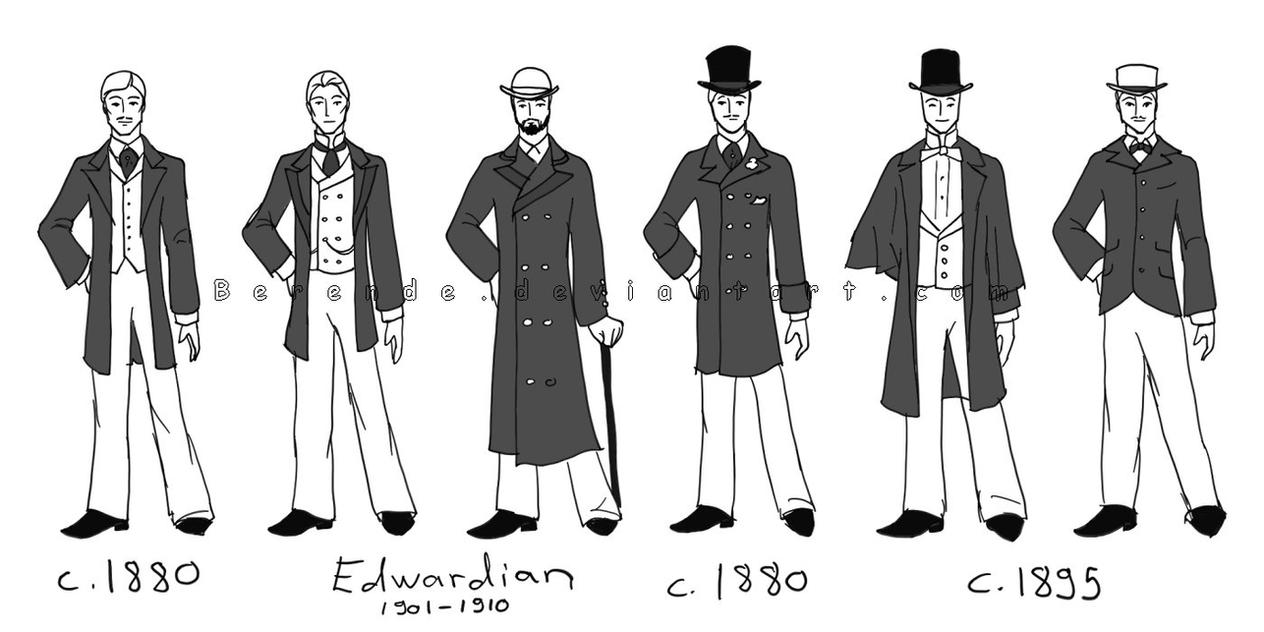 Male costumes by Berende