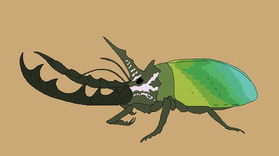 Triceratops beetle  by AlphaX9