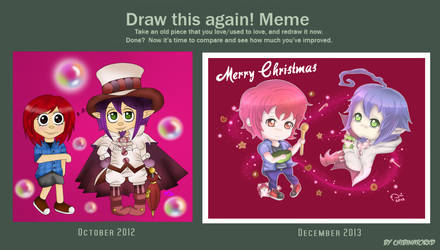 Draw this again meme - Betty and Mephisto