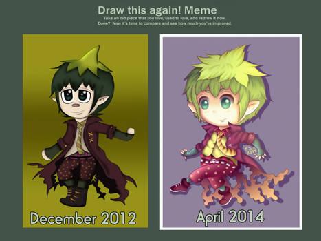 Draw this again! MEME - Chibi Amaimon