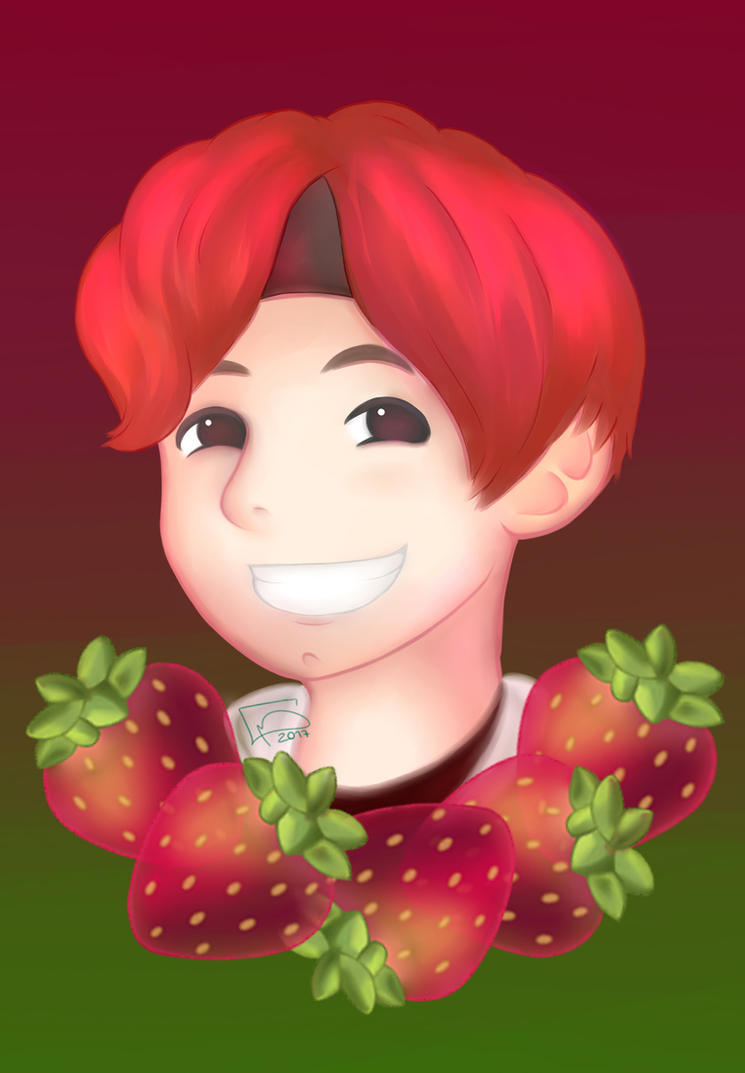 Our Strawberry Boy Tae Tae by ChibinatorXD