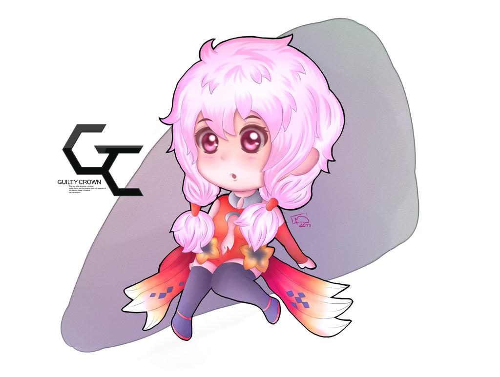 Guilty Crown: Inori Chibi by ChibinatorXD
