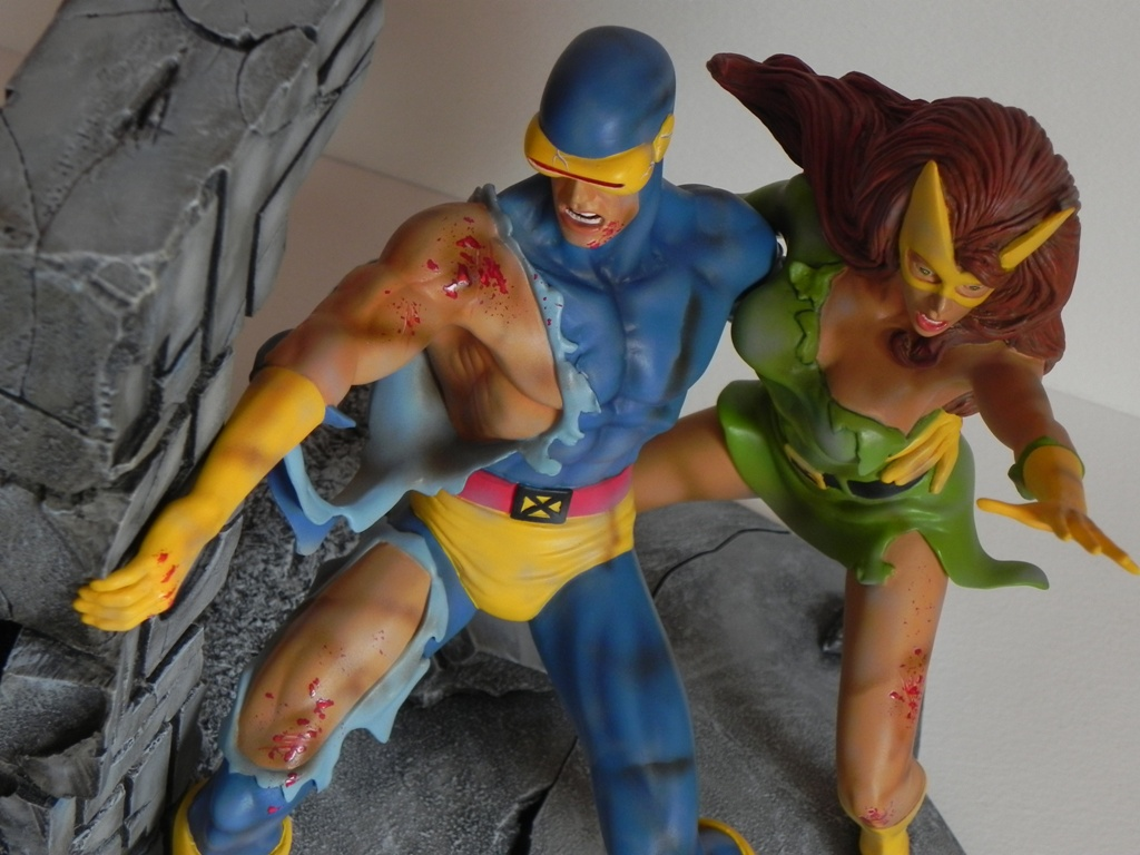 Cyclops and Strange Girl detail by georgesmassilia