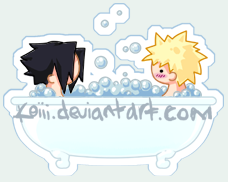 Tub Buddies - Sasunaru by Koiii