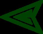 Green Arrow Symbol Flat