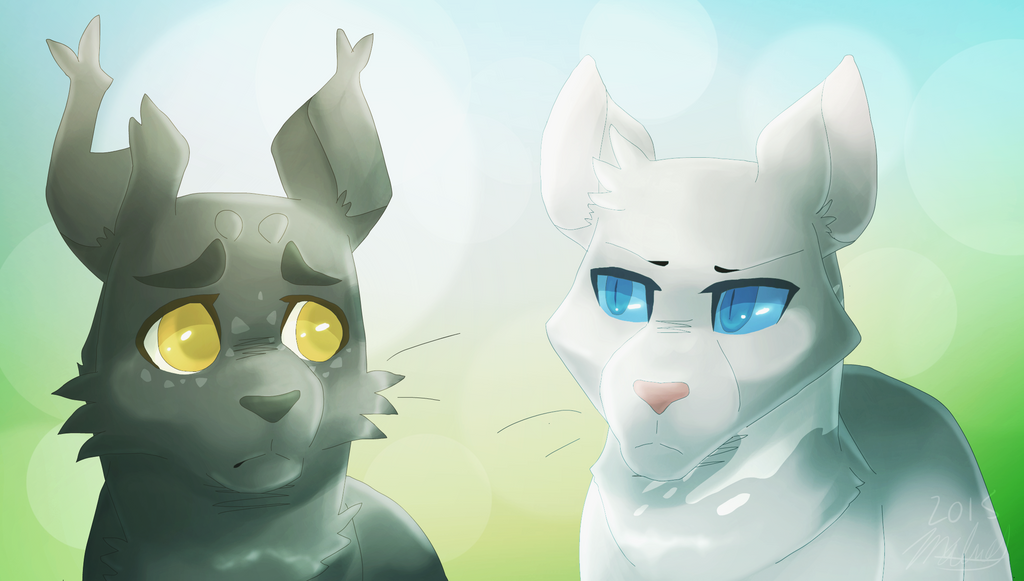 Warrior Cats Gray Wing And Clear Sky