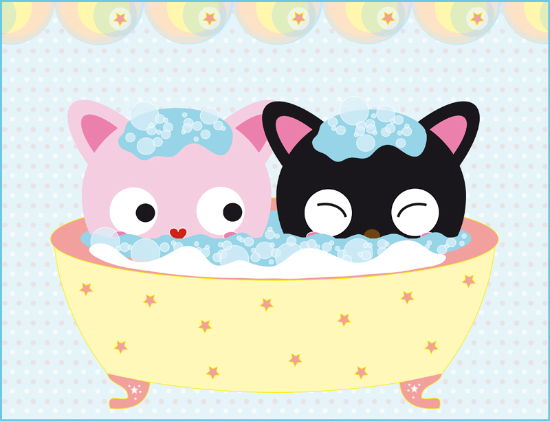 bubblebath.cats. by meow-mau-mau