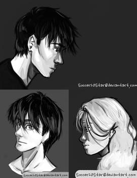Aiden and Akira Sketches
