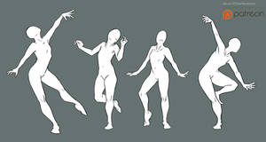 Free2Use Bases: Dance Poses w background