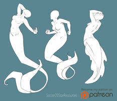Mer-May Pose Set 1 by CourtneysConcepts