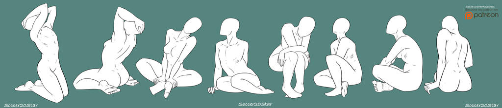 F2U: Sitting Pose Reference/Base by CourtneysConcepts