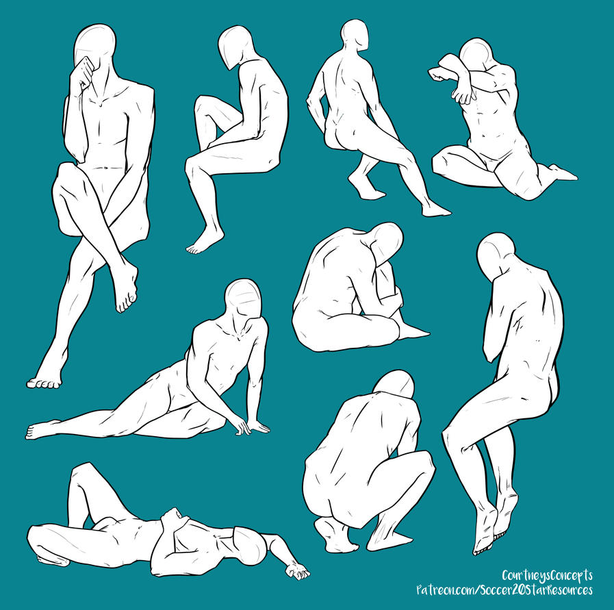 f2u base pose reference various sitting poses by