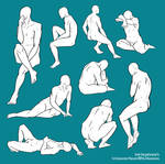 F2U Base/Pose Reference - Various Sitting Poses