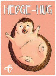 Valentines Day Hedgehog hug 1- Text - Card copy by CourtneysConcepts