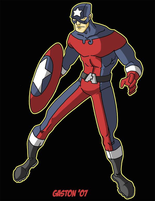 Captain America re-design by Gaston25