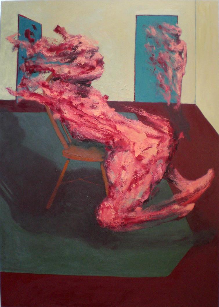 Sitting Figure w Mirror 2007 by JJURON