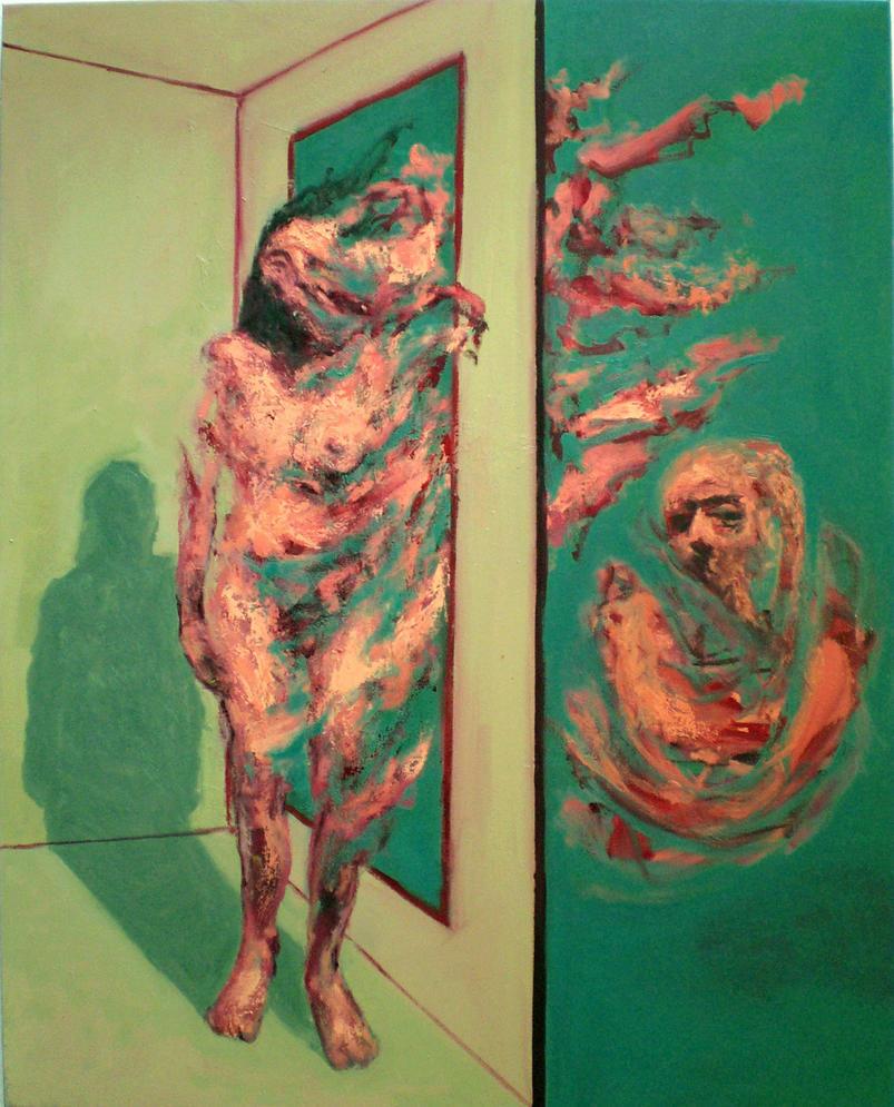 Standing Figure w Mirror 2007 by JJURON
