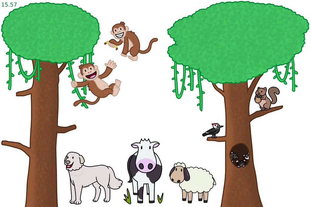 Jungle and Farm Animals by The-Bryce-Is-Right
