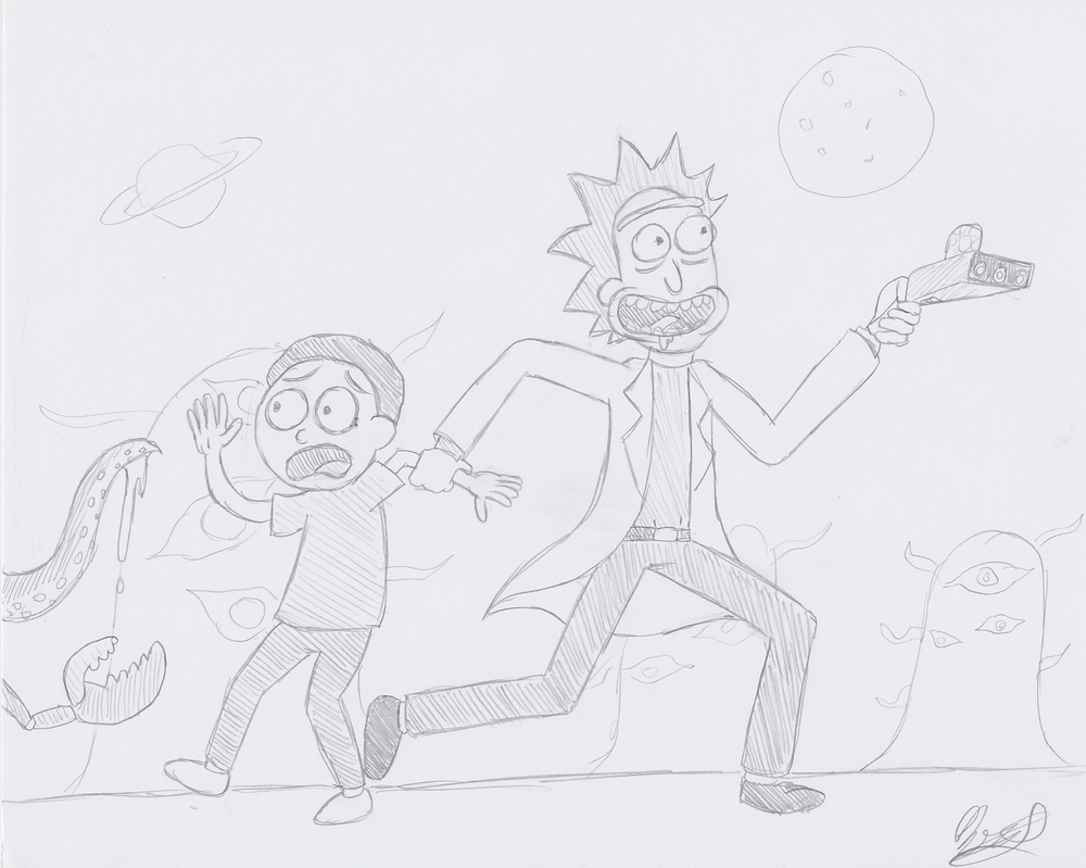 Rick and Morty by The-Bryce-Is-Right