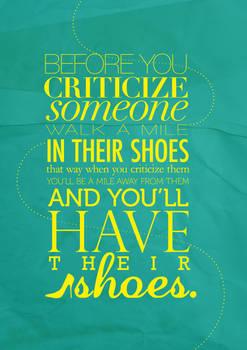 Before You Criticize