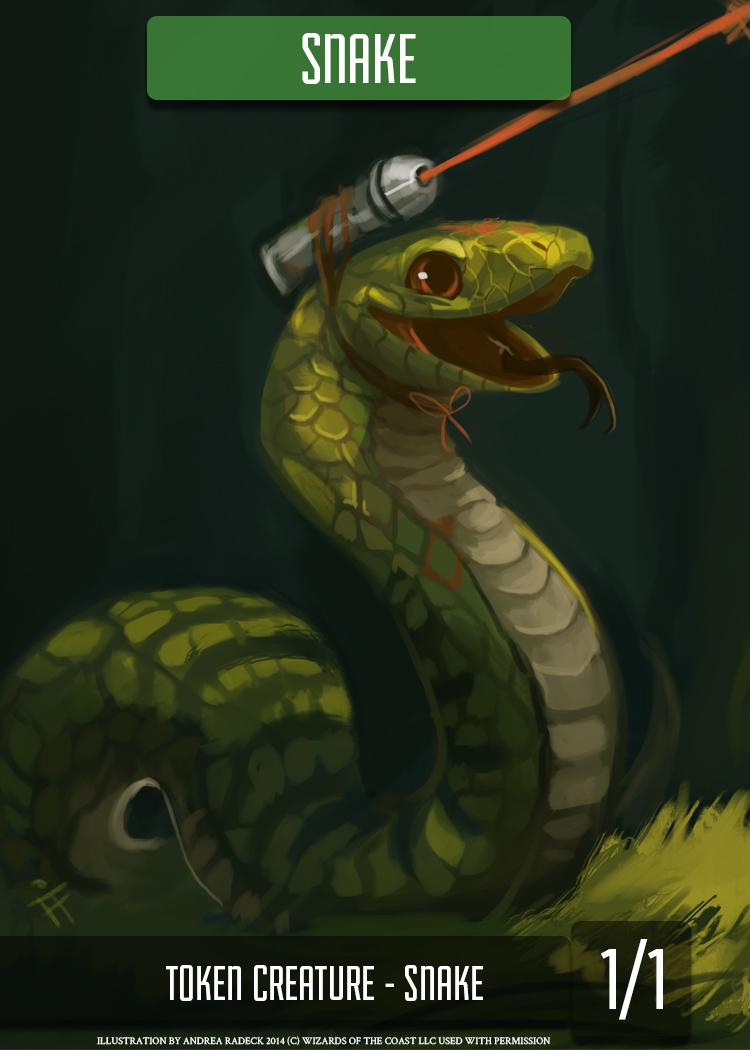 Green Snake Token by ALRadeck