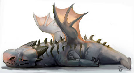 Tired Baby Dragon