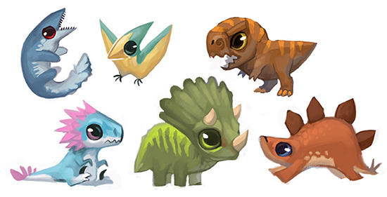 Dinosaur Buttons and Stickers!