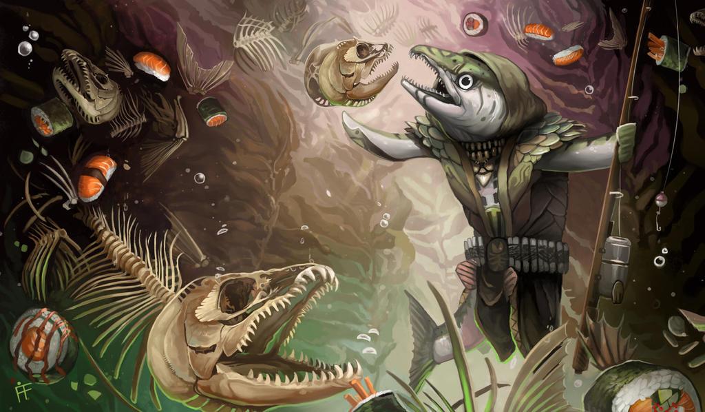 Deathrite Salmon by ALRadeck