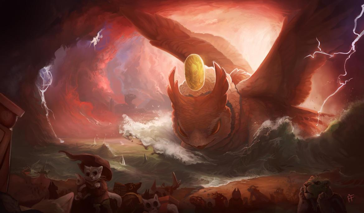 Owl of Destruction Prerelease Mat by ALRadeck