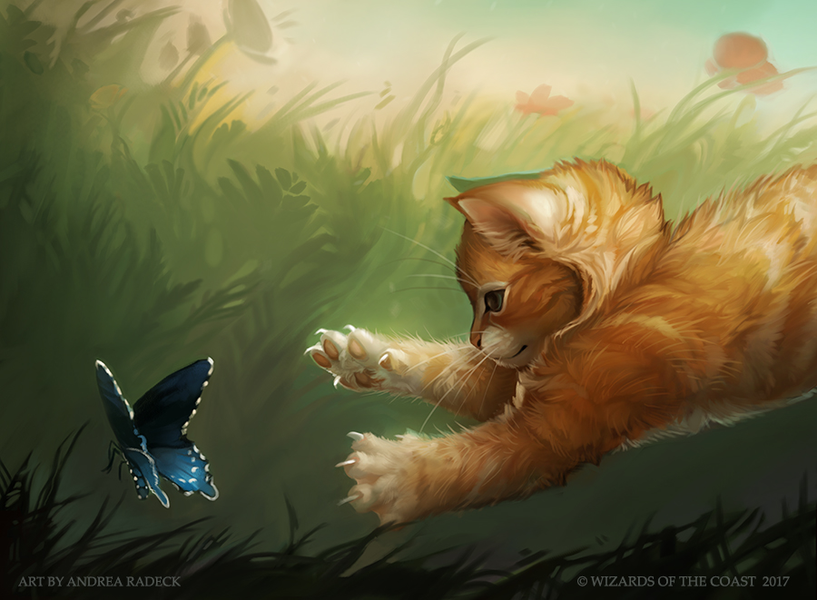 MTG Unstable: Half Kitten Half- by ALRadeck