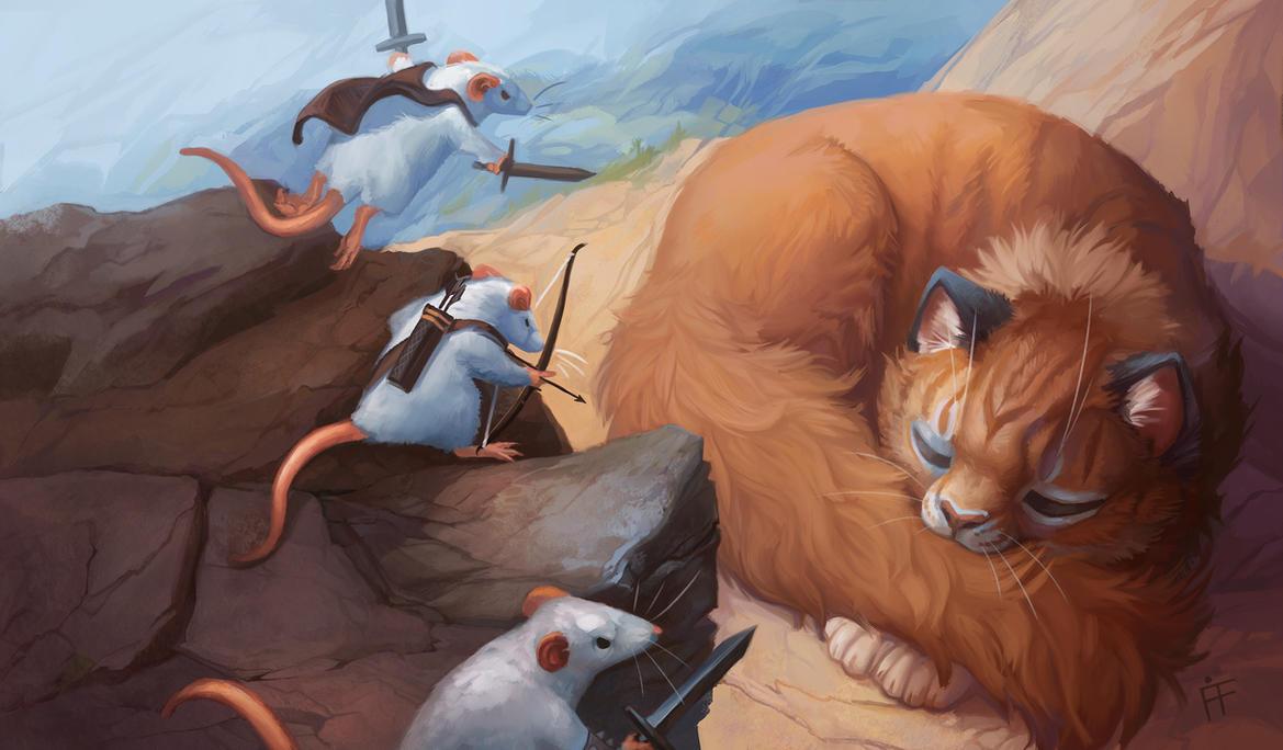 Three Brave Mice by ALRadeck