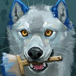 Wolf-Skoll Icon by ALRadeck