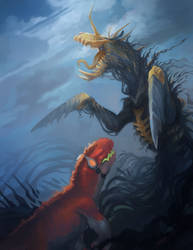 Caelum Sky Comic is up + Smokey horse friend! by ALRadeck