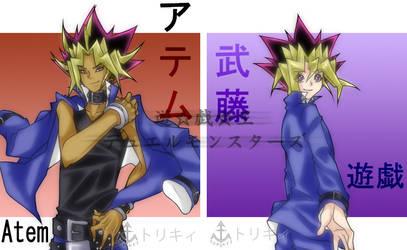 YGO DM: Atem and Mutou Yugi by Torikii