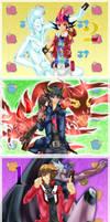 YGO: 2015 New Year Protagonists by Torikii