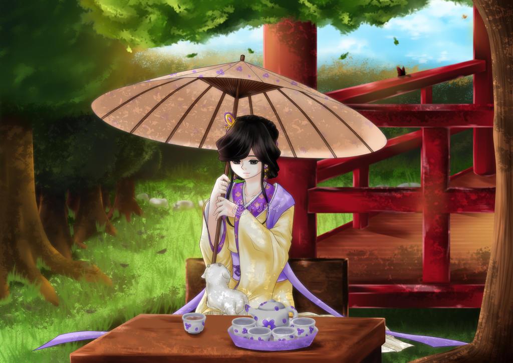 Tea under a Tree's Shade by Torikii