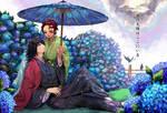 KnY: Hydrangea in the Rain