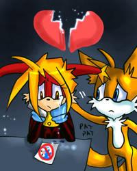 tails n saya share the sadness by Sayacat