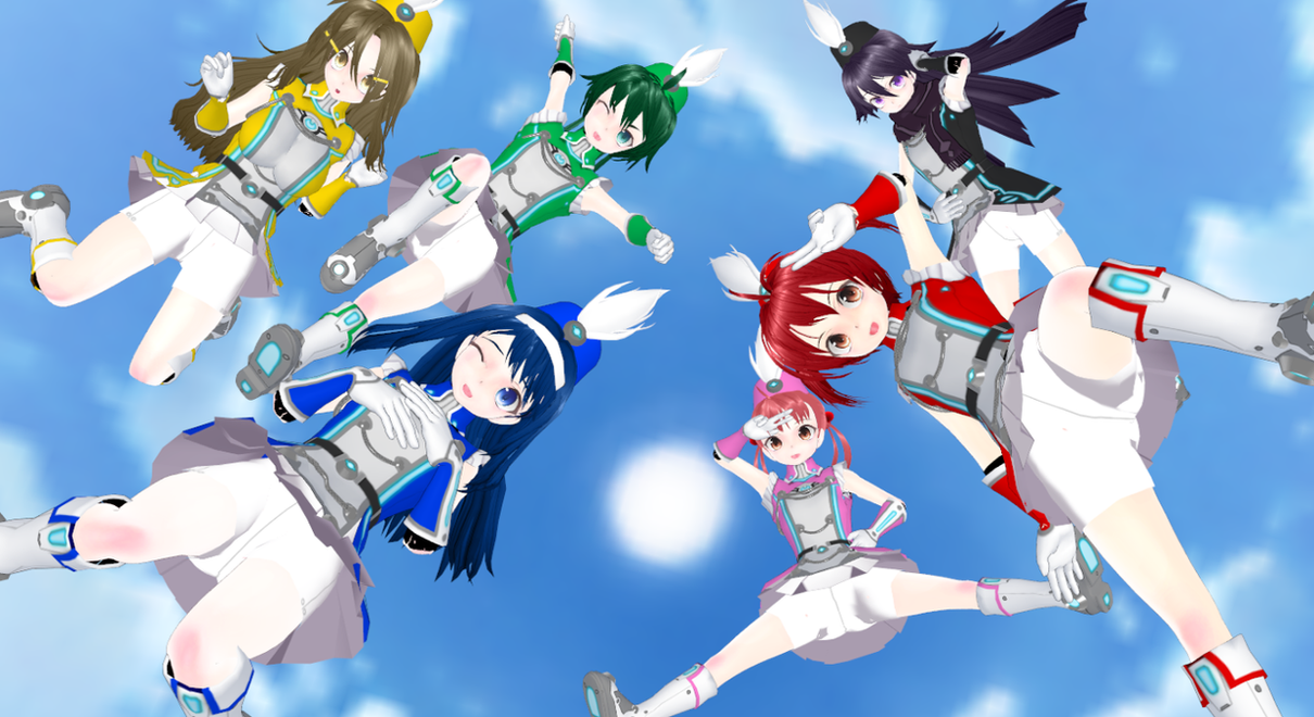Flying Vividred Operation Girls! by PrinceMekemeketheIII