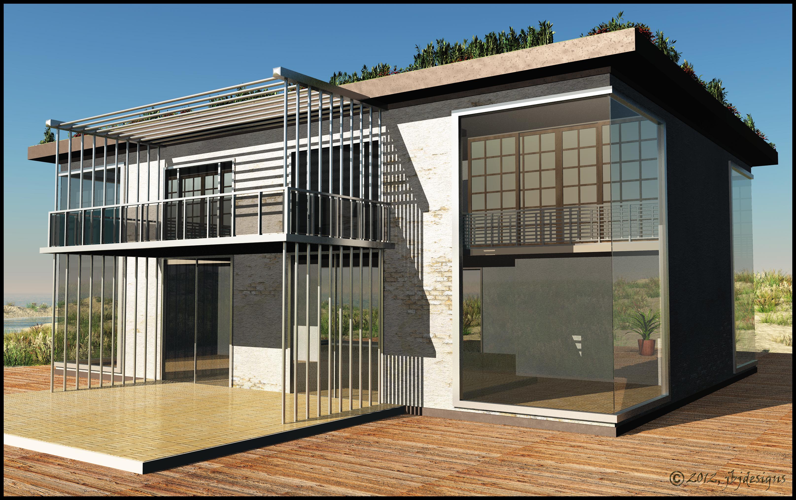 Final contemporary eco friendly beach house iii by for Eco friendly beach house designs