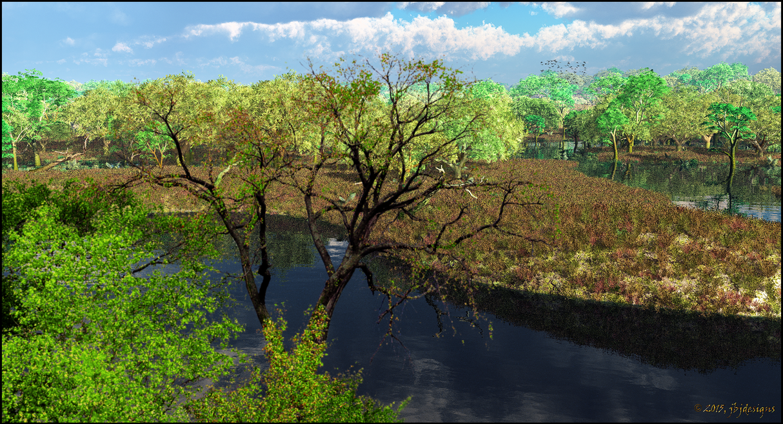Wetlands, Swamp2 by jbjdesigns