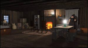 Old Homestead Rustic Cabin Interior