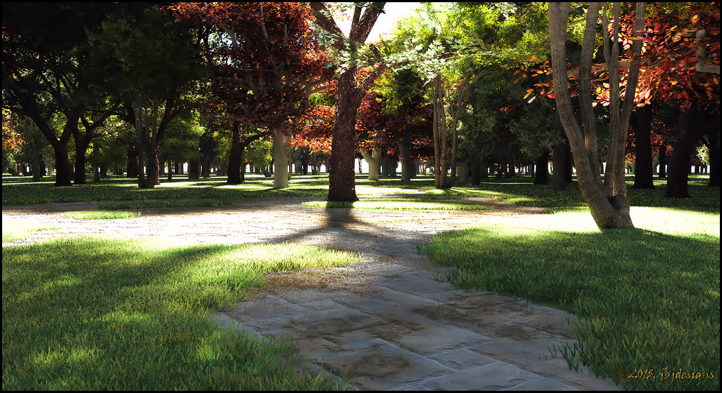 Paths Through The Park by jbjdesigns