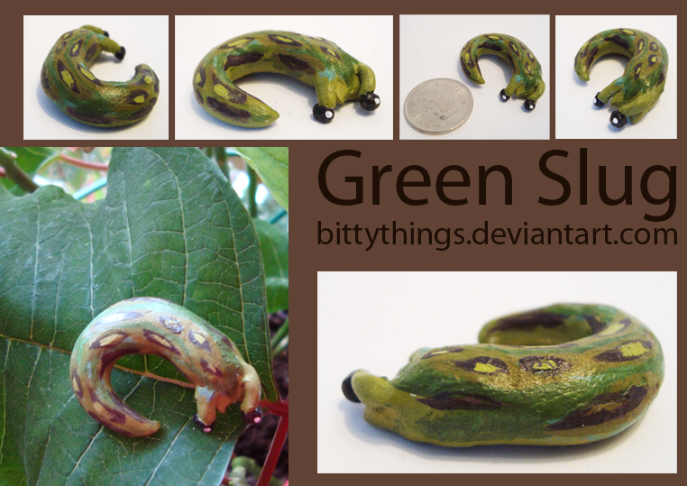 Green Slug - SOLD by Bittythings