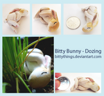 Bitty Bunny - Dozing - SOLD by Bittythings
