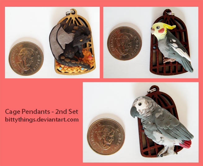 Cage Pendants - 2nd Set - Limited Selection by Bittythings