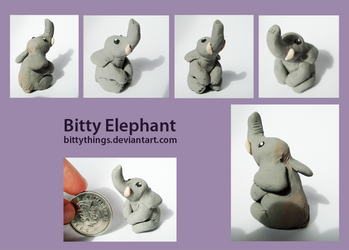 Bitty Elephant by Bittythings