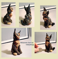 Melanistic Barn Owl Cat - SOLD by Bittythings