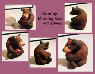 Grumpy Morning Bear - SOLD by Bittythings