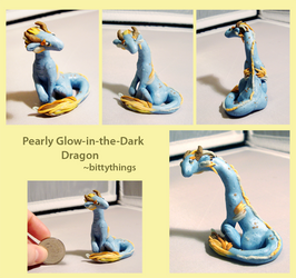 Pearly Glow-in-the-Dark Dragon - SOLD by Bittythings